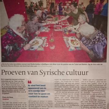 Tafel van Samen, Zutphen, september 2016